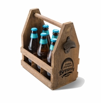 Personalized Beer Caddy with Bottle Opener