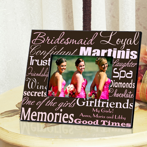 Personalized Bridesmaid Frame - Available in 7 colorful designs!