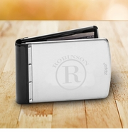Personalized Brushed Silver Zippo Wallet