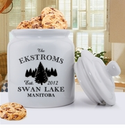 """Personalized Cabin """"Series"""" Cookie Jars"""