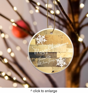 Personalized Christmas Ceramic Ornaments - click to enlarge
