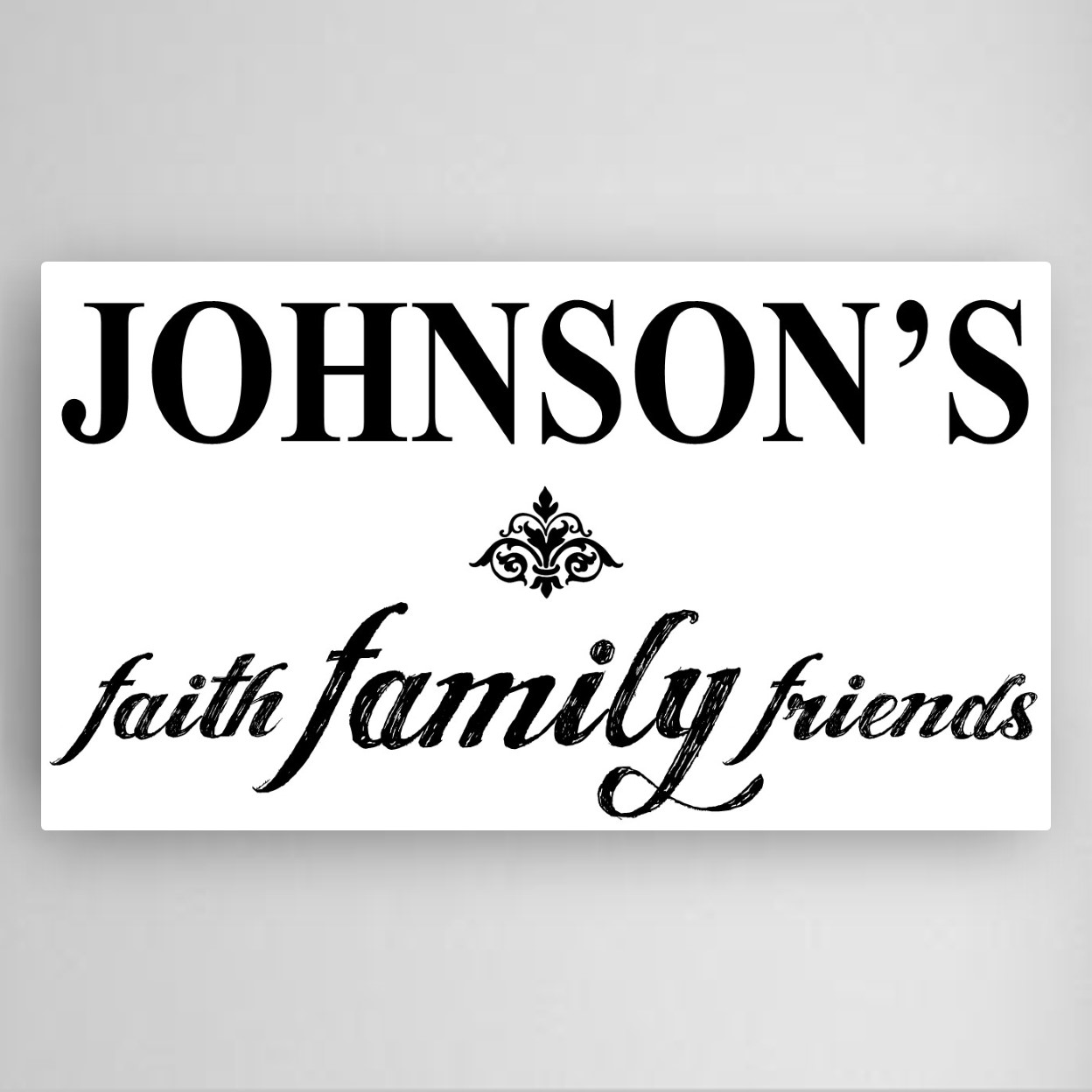 Family Faith Friends Personalized Custom Canvas Print Sign