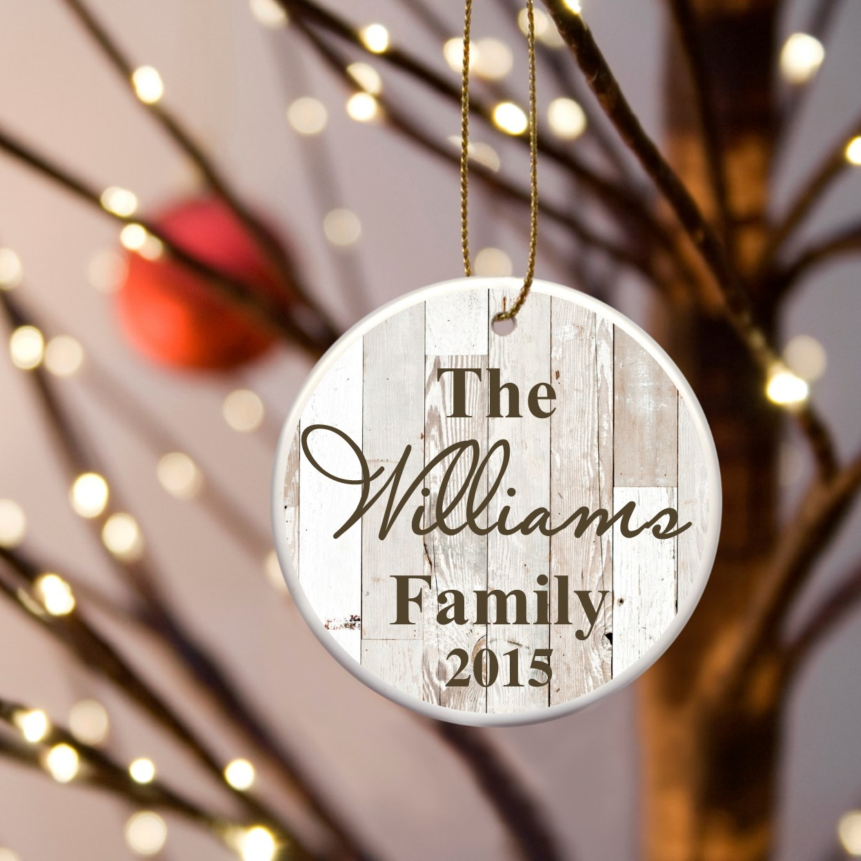 Personalized name ornaments - Personalized Family Name Ceramic Ornaments