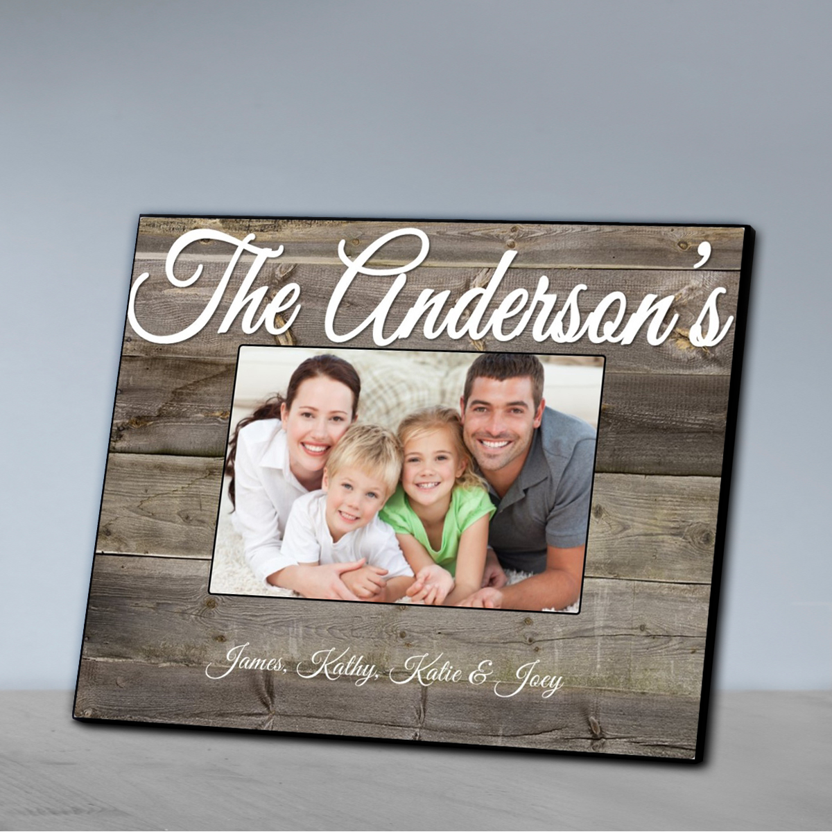 personalized family picture frame plank