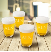 Personalized Glass Beer Cup Set