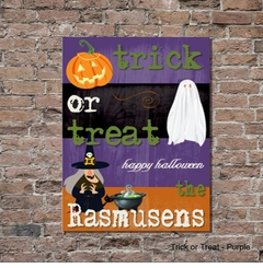 Personalized Halloween Canvas Sign