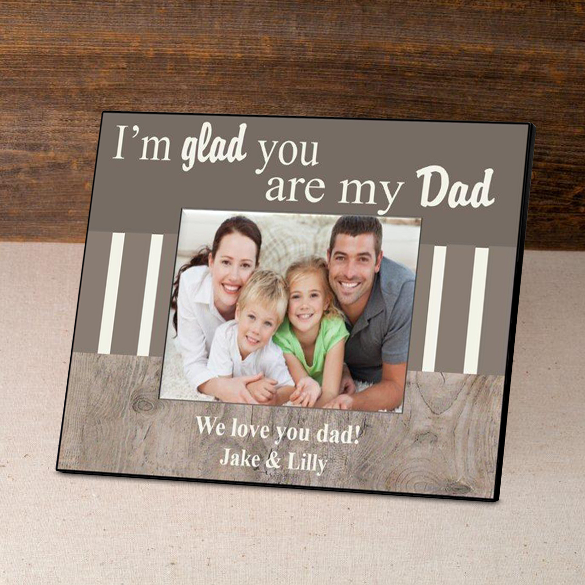Personalized Father's Day Frame-I'm Glad