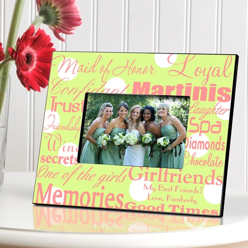 Personalized Maid of Honor Frame- Available in 7 colorful designs!
