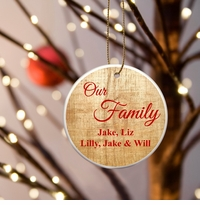 Personalized Our Family Ceramic Ornaments