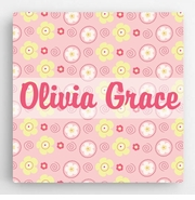 Personalized Pattern Kids Canvas Sign-Girl