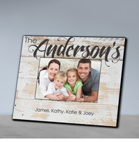 Personalized Family Picture Frame-White Wash