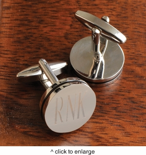 Personalized Pin Stripe Cufflinks - click to enlarge