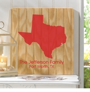 Personalized State Wood Sign
