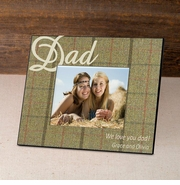 Personalized Tartan Father's Day Frame