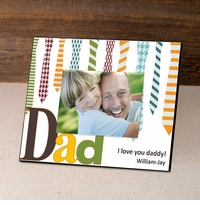 Personalized Ties Father's Day Frame