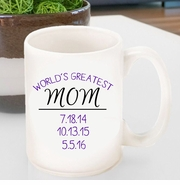 Personalized World's Greatest Mom Coffee Mug