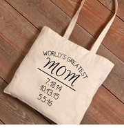 Personalized World's Greatest Mom Tote