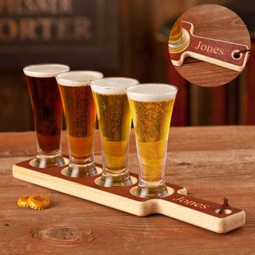 Custom Beer Flight Sampler Paddle