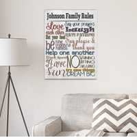 Rules of the House Canvas Print