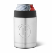 Personalized Stainless Silver Double Wall Insulated Can Cooler
