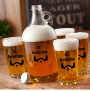 Personalized Printed The Depp Beard Growler Set