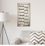 Think Speak Love Canvas Print
