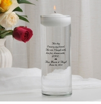 This Day Poem Floating Unity Candle (B2)