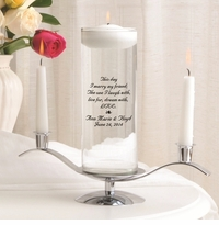 This Day Poem Floating Unity Candle Set (B2)