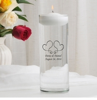 Two Hearts Floating Unity Candle (S17)