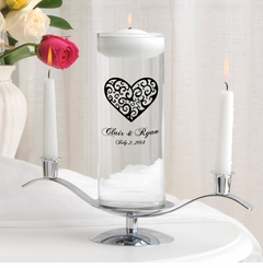 Vintage Heart Floating Unity Candle Set (CP2)