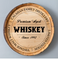 Whiskey Barrel Signs