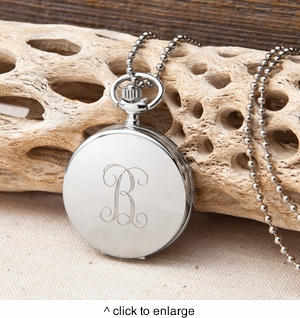 Personalized Clock Pendant Necklace - click to enlarge