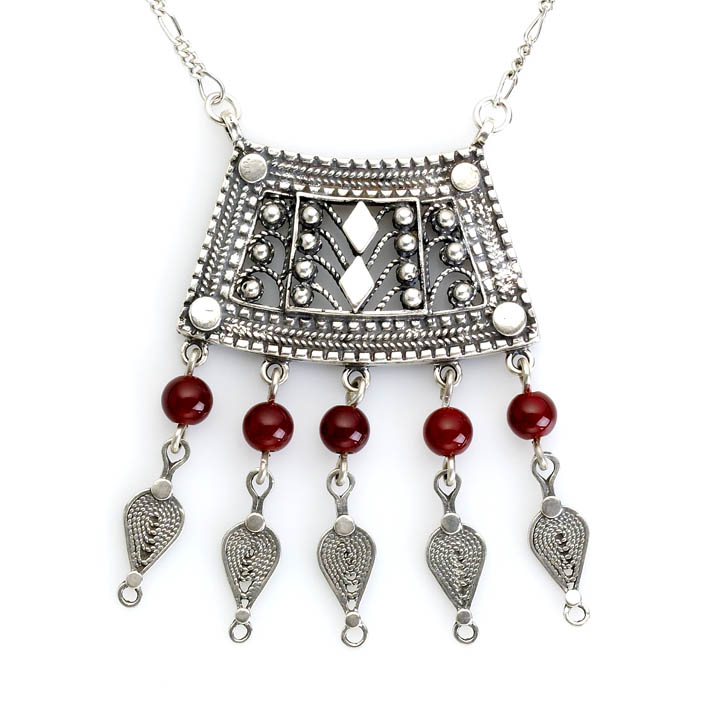 Made in Israel arabesque necklace