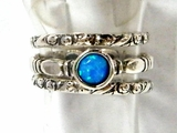 silver opal rings blue opal ring on sterling silver