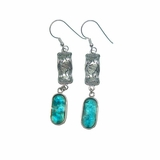 Israeli jewelry | roman glass earrings | silver earrings
