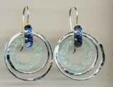 Roman Glass earrings designer handcrafted jewelry
