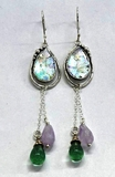Roman Glass earrings sterling silver with amethyst
