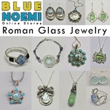 Roman Glass jewelry : Earrings, necklaces, rings