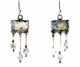 """Roman glass jewelry"" dangling earrings Israeli roman glass jewelry"