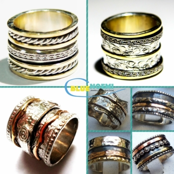 Wide spinner rings spinning ring jewelry