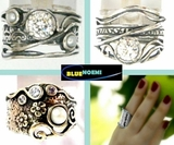 Sterling silver rings typical Israeli