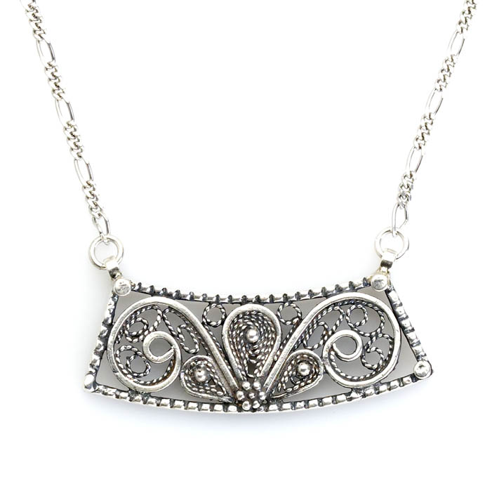 Traditional filigree necklace made in Israel