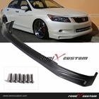 08-10 Honda Accord 4DR Sedan 4cyl Front Body Mugen Style PU Bumper Lip Spoiler Kit