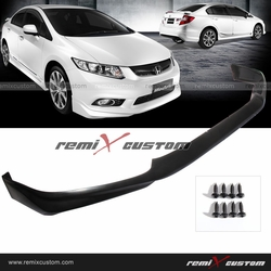 12 Honda Civic 4DR Sedan Modulo PU Front Body Bumper Lip Kit Spoiler