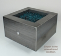 30 Inch Square Glass Media Fire Pit - Free Top