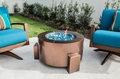 Powder Coated Fire Pit - 31 Inch Round with Stainless Steel Fire Bowl