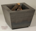 33 Inch Pyramid Wood Burning Fire Pit - Free Top