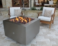 35� Stainless Steel Fire Pit - Wood Burning with a Gas Ring