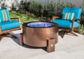 37 Inch Round Powder Coated Gas Fire Pit with Stainless Steel Fire Bowl