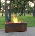 48 Inch Rectangular Glass Media Fire Pit - Free Top